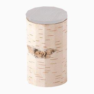 Plain Tuesa Container with Grey Lid by Anastasiya Koshcheeva for Moya