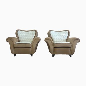 Art Deco Italian Armchairs , 1940s, Set of 2