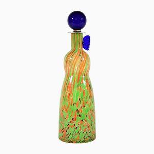 Vintage Murano Glasflasche von Carlo Moretti