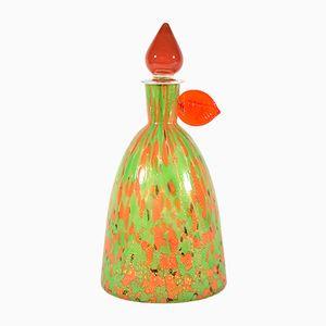 Vintage Murano Glas Flasche von Carlo Moretti