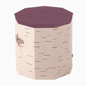 Plain Tuesa Container with Purple Lid by Anastasiya Koshcheeva for Moya