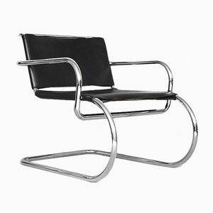 Chaise en Cuir par Franco Albini pour Tecta, Allemagne, 1950s