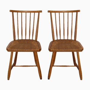 Mid-Century German Chairs by Arno Lambrecht for WK Möbel, 1950s, Set of 2