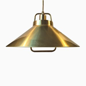 Lampada a sospensione P295 vintage in ottone di Fritz Schegel per Lyfa, Danimarca, anni '60
