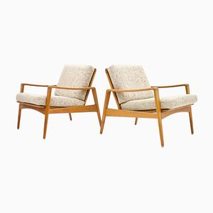 Danish Lounge Chairs by Arne Wahl Iversen for Komfort, 1960s, Set of 2