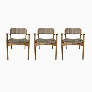 Fauteuil en Chêne & 2 Chaises de Salon par Erik Buch pour OD Møbler, Danemark, Set de 3