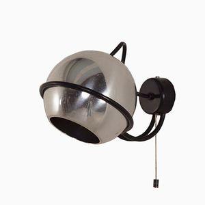 Lampada da parete nr. 232 in metallo cromato di Gino Sarfatti per Arteluce, anni '60