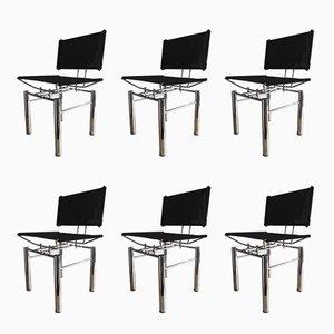 Deutsche Esszimmerstühle von Hans Ullrich Bitsch für Kusch+Co, 1980er, 6er Set