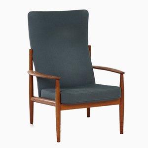 Dänischer Stuhl mit hoher Rückenlehne von Grete Jalk für France & Søn, 1960er