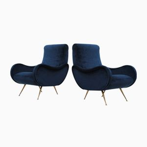 Mid-Century Italian Armchairs from Flexform, Set of 2