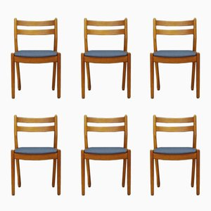 Mid-Century Teak Chairs by Poul M. Volther, Set of 6
