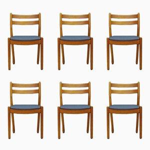 Mid-Century Teak Stühle von Poul M. Volther, 6er Set