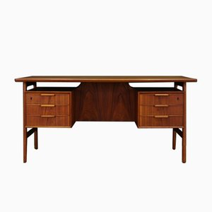 Mid-Century Teak Writing Desk from Omann Jun
