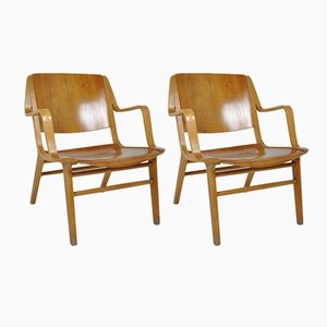 AX Chairs by Hvidt & Molgaard Nielsen for Fritz Hansen, 1960s, Set of 2
