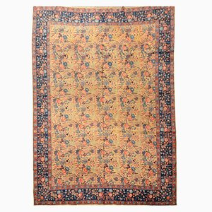 Antique Tabriz Rug with Flowers Design