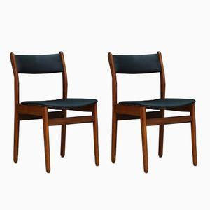 Skandinavische Mid-Century Teak Stühle, 2er Set