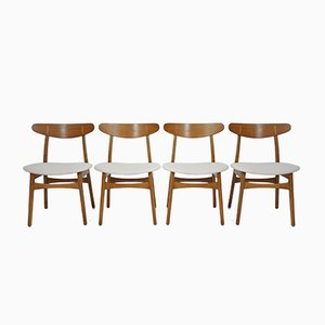Vintage CH30 Chairs by Hans J. Wegner for Carl Hansen, 1950s, Set of 4