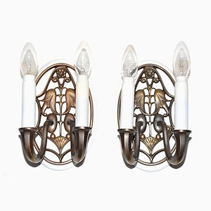 Antique Austrian Wall Sconce, Set of 2