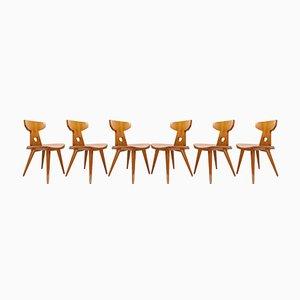 Scandinavian Modern Stühle aus Kiefernholz von Jacob Kielland Brandt für Christiansen, 1960er, 6er Set