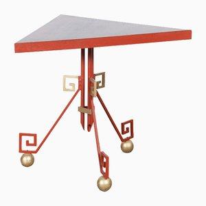Französischer lackierter Art Deco Metall Tisch, 1940er