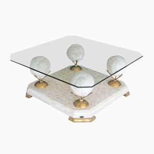 Marble and Glass Coffee Table from Fournier, 1960s