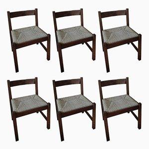 Torbecchia Chairs by Giovanni Michelucci for Poltronova, 1960s, Set of 6