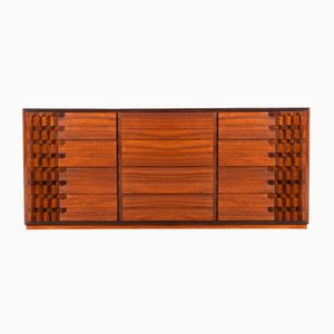 Mid-Century Walnut Chest of Drawers by Luciano Frigerio, 1970s