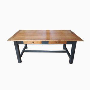 Tavolo da fattoria vintage in legno di quercia