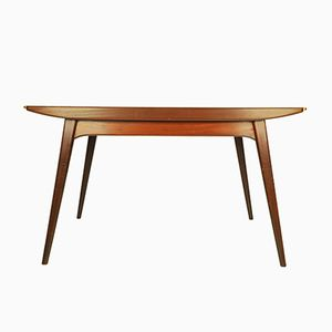 Tavolo da pranzo allungabile in teak di Louis van Teeffelen per Wébé, anni '60