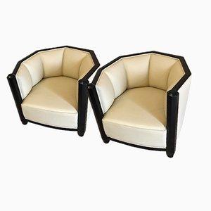 Art Deco Armlehnstühle, 1930er, 2er Set