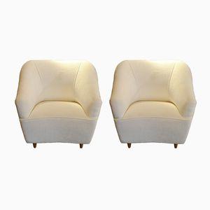 Vintage Italian Club Chairs by Gio Ponti for Casa e Giardino, Set of 2