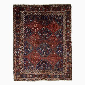 Antique Handmade Persian Khamseh Rug, 1900s
