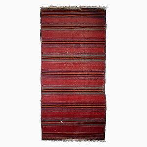 Vintage Handmade Persian Striped Kilim, 1940s