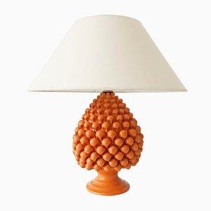 Lampe de Bureau Ananas Vintage en Céramique, 1970s