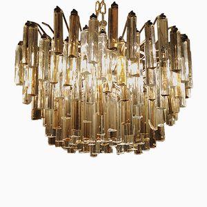 Vintage Tribodo Murano Glass Chandelier by Paolo Venini