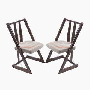 Vintage Czech Side Chairs, 1970s, Set of 2