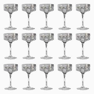 Kristallglas Champagnergläser von Claus Josef Riedel für Riedel Glas Tirol, 1960er, 15er Set
