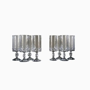 Evergreen Glasses by Claus Josef Riedel for Riedel Glas Tirol, 1960s, Set of 8