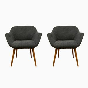 Mid-Century Small Polish Armchairs, Set of 2