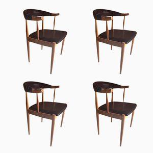 Chaises de Salon Mid-Century en Teck par Johannes Andersen, Danemark, Set de 4