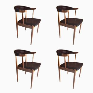 Mid-Century Danish Teak Dining Chairs by Johannes Andersen, Set of 4