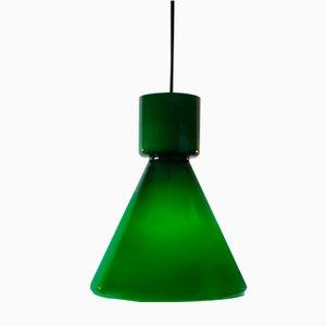 Lampe à Suspension en Verre Vert de Limburg, Allemagne, 1970s