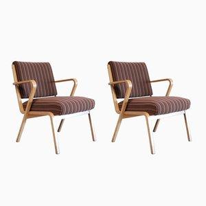 Bauhaus Easy Chairs by Selman Selmanagic for VEB Deutsche Werkstätten Hellerau, Set of 2