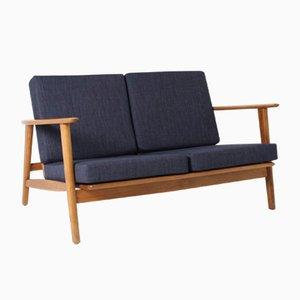 Mid-Century GE-233 Beech 2-Seater Sofa by Hans J. Wegner for Getama, 1950s