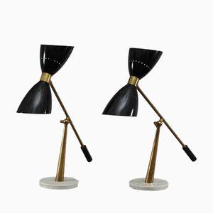 Italienische Vintage Tischlampen von Stilnovo, 1950er, 2er Set