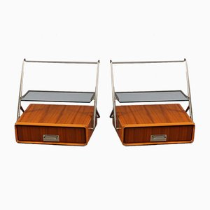 Wall-Mounted Bedside Tables by Silvio Cavatorta, 1950s, Set of 2