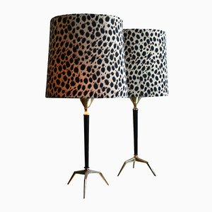Animal Print Lamps, 1950s, Set of 2