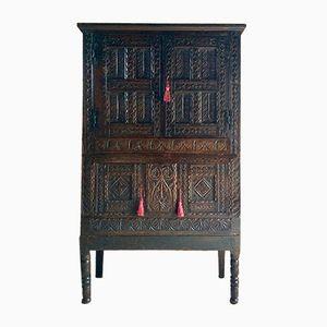 Antique George II Carved Oak Cupboard