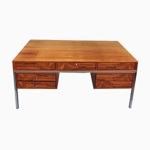 Rosewood Veneer Desk from Interlübke, 1970s
