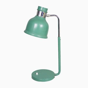 Green Vintage Industrial Work Table Lamp, 1970s